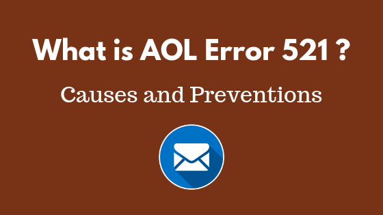 aol mail error 521 5.2.1