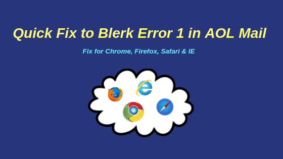 blerk error 1 authentication problem